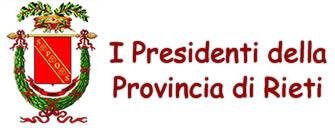 I Presidenti della Provincia di Rieti