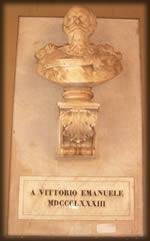 Palazzo del municipio a Rieti busto Vittorio Emanuele