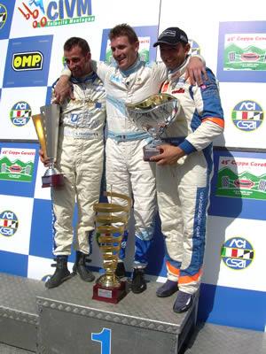 Coppa Carotti, il podio della 45a edizione