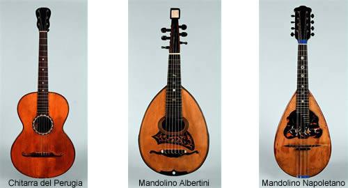 Chitarra Del Perugia Mandolino Albertini Mandolino Napoletano
