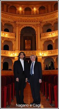 Nagano e Cagli al Teatro Flavio Vespasiano