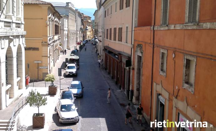Via Garibaldi a Rieti