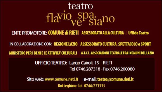 Comune di Rieti, stagione teatrale 2011/2012