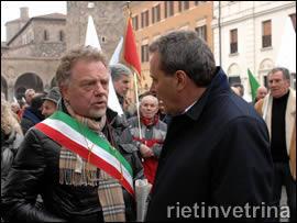 Il sindaco Graziani e il presidente Melilli