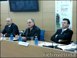 Presentazione Euroleague 3, nella foto Valentini, Regnini e Anibaldi