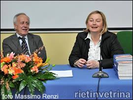 Il presidente Rinaldi e Rita Giovannelli