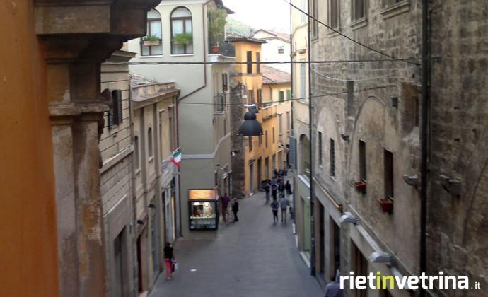 Via Roma a Rieti