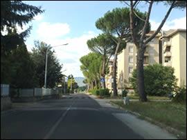 Rieti, via Lama, Quattro strade