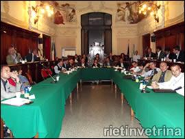 Consiglio comunale Rieti
