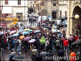 Manifestazione a Rieti