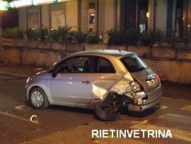 Fiat 500 in viale Matteucci Rieti