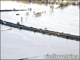 Rieti, inondazione di Magliano Sabina