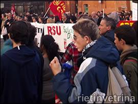 Rieti, studenti in sciopero