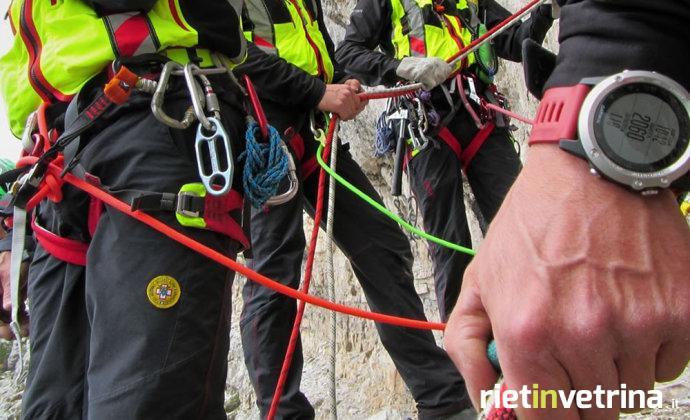Speleologa del gruppo Grotte Pipistrelli di Terni intrappolata a Cittareale