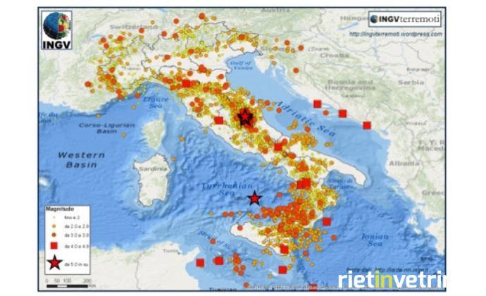 Ben 53mila terremoti nel 2016, il triplo rispetto al 2015
