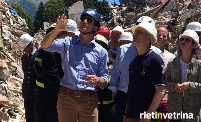 Terremoto, Justin Trudeau in visita ad Amatrice