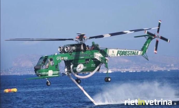 Elicottero Antincendio : Incendi si utilizzi l elicottero antincendio s f